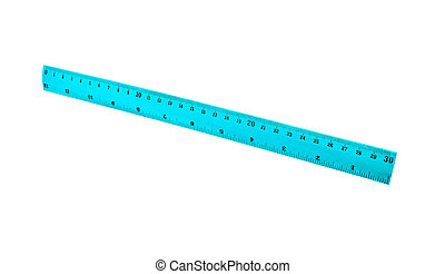 Transparent ruler isolated on white
