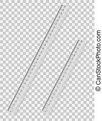 transparent ruler vector illustration