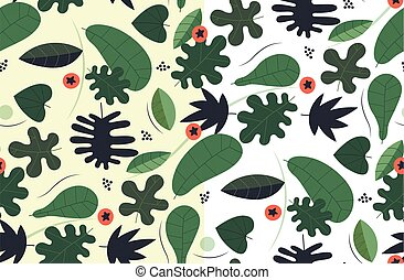 Transparent seamless green pattern