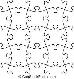 transparent seamless puzzle