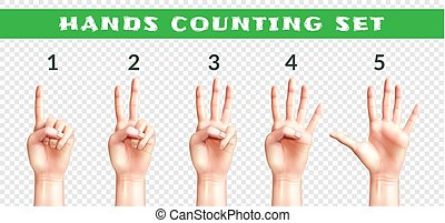 Transparent Set Of Counting Hands