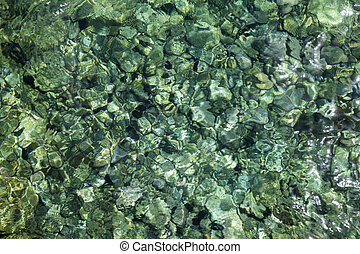 transparent shallow water