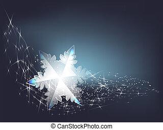 Transparent snowflake