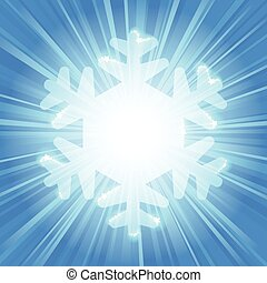 Transparent snowflake silhouette