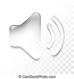 transparent sound - Transparent isolated sound symbol icon,...