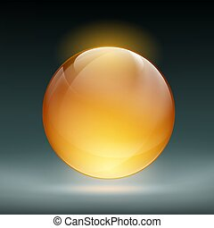 transparent sphere vector