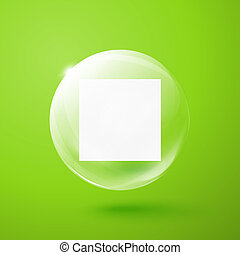 Transparent sphere with paper inside