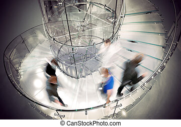 Transparent spiral staircase
