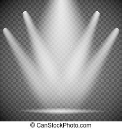 transparent spotlights on background. vector