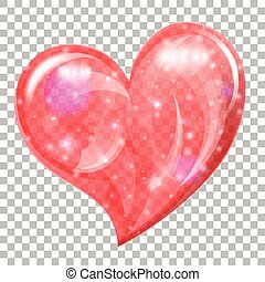 Heart Confetti For Valentines Day On Transparent Background Heart
