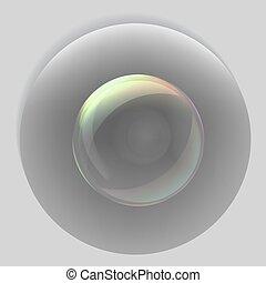 Transparent vector eps10 soap bubble icon