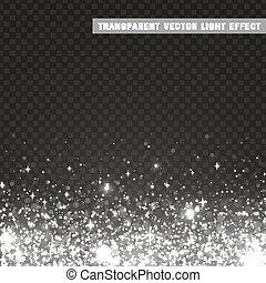 Transparent vector light effect silver, gray