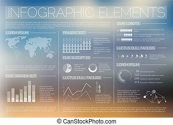Transparent Vector set of Infographic elements