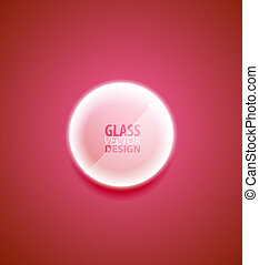 transparent, verre, bouton