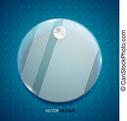 transparent, verre, cercle