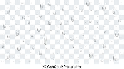 transparent water drop background vector