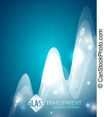 Transparent wave background