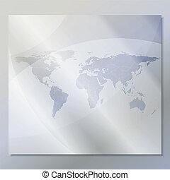 transparent world map vector background