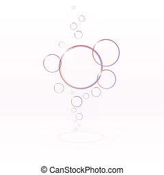 transparente, bolhas sabão, eps10, vetorial