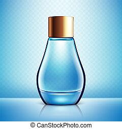 transparente, fundo, isolado, garrafa, perfume