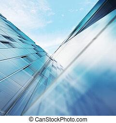transparente, resumen, edificio