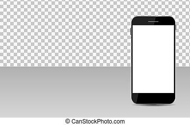 transperent, réaliste, mobile, résumé, papier peint, illustration, téléphone, vecteur, arrière-plan., écran
