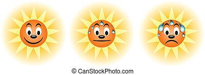 transpiration, été, soleil