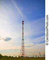 transponder - landscape with roaming tower