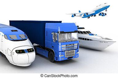 Transport. 3d render illustration - Transport. 3d render...