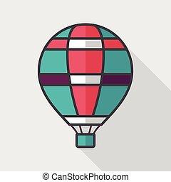 Plat transport ombre ballon long air chaud ic ne vecteur eps rechercher des clip art - Ombre et air ...