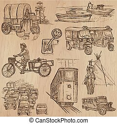 Transport - an hand drawn vector pack.