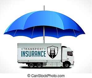 Transport and logistics insurance concept