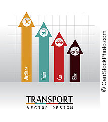 transport arrows over gray background vector illustration