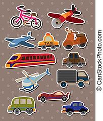 transport, autocollants