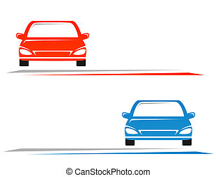 transport background with car