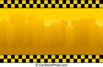 transport background with taxi sign
