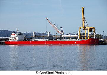 transport., bateaux, maritime, cargaison