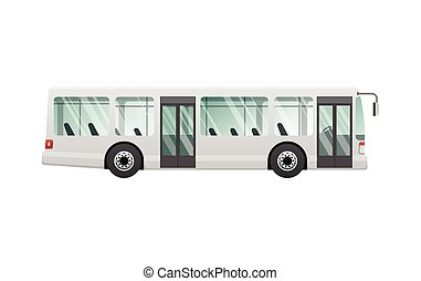 transport., bild, urban, buss, isolerat, publik