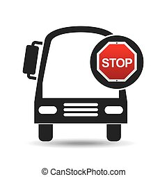 transport bus stop road sign design
