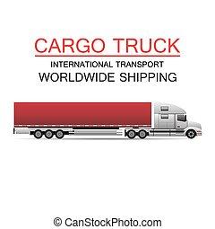 transport, camion, logistique