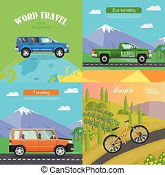 Transport. Collection of Four Auto Illustrations