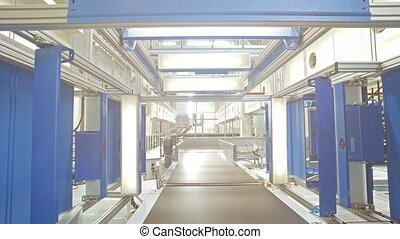 Transport conveyor belts with automatic scanner - Transport...