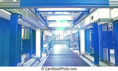 Transport conveyor belts with automatic scanner