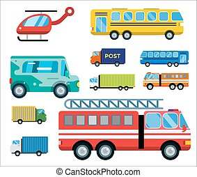 Transport delivery vector isolated white transportation car ...
