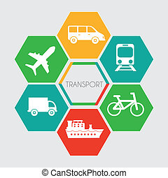 Transport design over gray background ,vector illustration