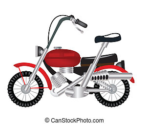 Transport facility motorcycle - Two-wheeled transport...