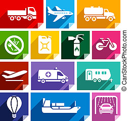 Transport flat icon, bright color-02