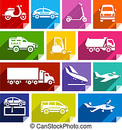 Transport flat icon, bright color-05