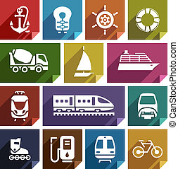 Transport flat icon