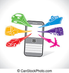 transport for online booking stock vector